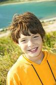 The smiling boy — Stock Photo