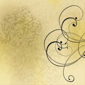 Sepia abstract background with swirls — Stock Photo
