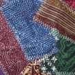 Crazy quilt batik fabric design background — Stock Photo