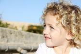 Child looking upwards — Stock Photo