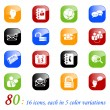 Royalty-Free Stock Imagen vectorial: Social media and blog icons - color seri