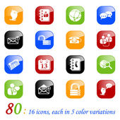 Social media and blog icons - color seri — Stock Vector