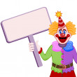 Clown with table — Stock Vector
