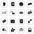Social media&blog icons, BW series — Stock Vector