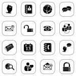 Social media&blog icons, BW series — Wektor stockowy