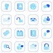 Social media&blog icons, blue series — Stock Vector #2841484