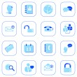 Social media&blog icons, blue series — Stock Vector