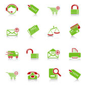 Sale and shopping icons — Stock Vector