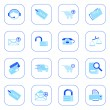 Sale and shopping icons - blue series — Stock Vector