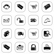 Stock Vector: Sale and shopping icons - BW series