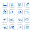 Industry icons - blue series — Stock Vector