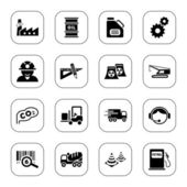 Industry icons - BW series — Stock Vector
