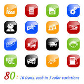 Industry icons - color series — Stock Vector