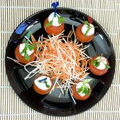 Mozzarella appetizer — Stock Photo