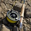 Stock Photo: Fishing-rod for fly-fishing
