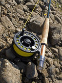 Fishing-rod for fly-fishing — Stock Photo