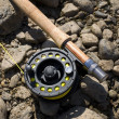 Foto de Stock  : Fishing-rod for fly-fishing