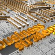 Stock Photo: Business Strategy - 3D
