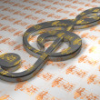 Stock Photo: Clef - Sheet - 3D