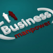 Business - Manpower - letters — Stock Photo