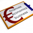 Stock Photo: Clipboard - finances - economics - busin