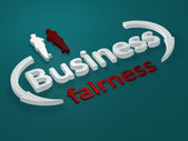 Business - Fairness - letters — Stock Photo