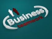 Business - Teamwork - letters — Stock Photo