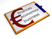 Clipboard - finances - economics - busin — Stock Photo