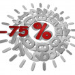 Stock Photo: Discounts -75 percent