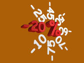 Discounts -20 percent — Stock Photo