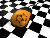 Football on Web — Stock Photo