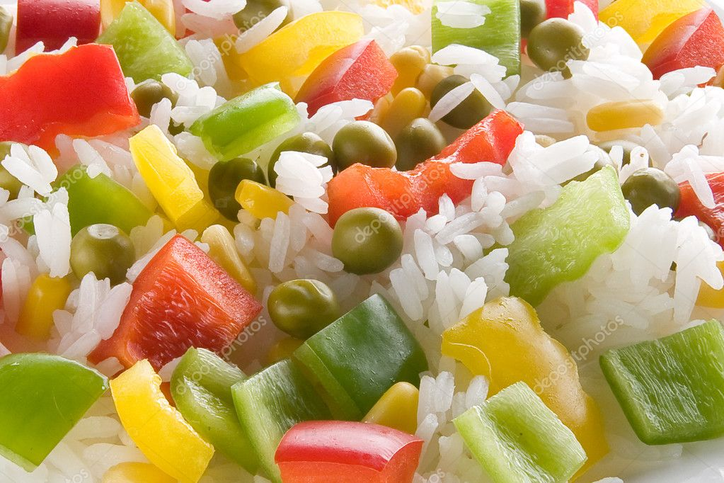 Rice with vegetables, background  Stock Photo #3010426