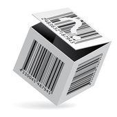 Bar code on box — Stock Vector
