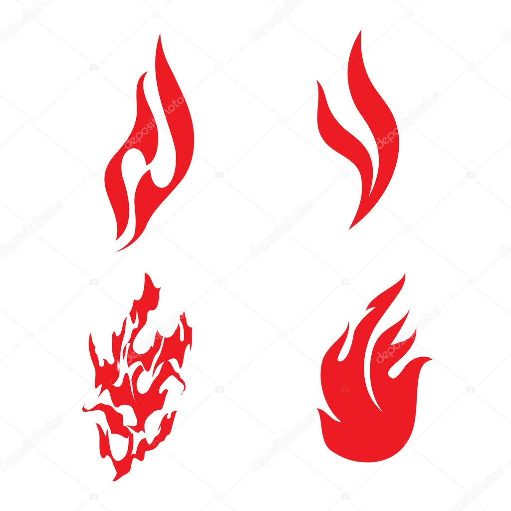 иконки огонь: