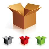 Barevné boxy — Stock vektor