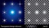 Hvězdy. vektorové ilustrace pro design. — Stock vektor