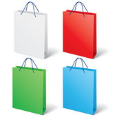 Colorful shopping bag — Stock Vector