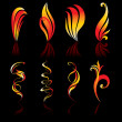Fire icons. — Stock Vector