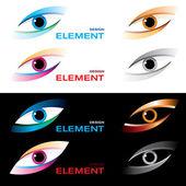 Logo eye. — Stock Vector