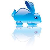 Rabbit symbol — Stock Vector