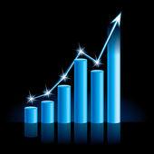 Growing bull trend chart — Stock Vector
