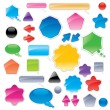 Collection of color web elements — Stock Vector