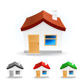 Vector abstract house — Stock Vector