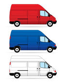 Isolated Delivery Vans — Stock Vector