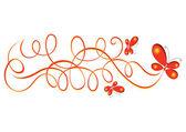 Vecteur dessin abstrait. papillon. — Vecteur