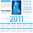 2011 Calendar Template — Stock Vector