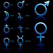 Symbol, planet — Stock Vector