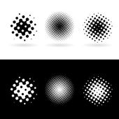 Black and white round spots — Stock Vector