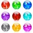 Glossy spheres — Stock Vector