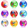 Vector de stock : Glossy spheres